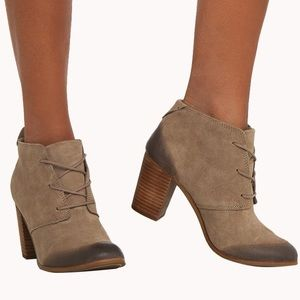 Toms heel booties. Near perfect condition
